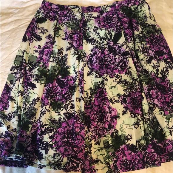 Mid-Length Floral Skirt